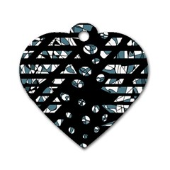 Blue Freedom Dog Tag Heart (two Sides) by Valentinaart