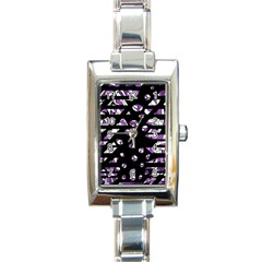 Violet Freedom Rectangle Italian Charm Watch by Valentinaart
