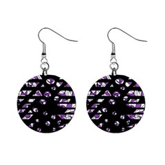 Violet Freedom Mini Button Earrings by Valentinaart