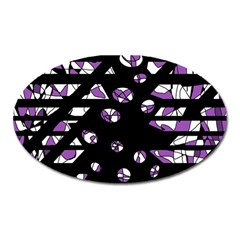 Violet Freedom Oval Magnet by Valentinaart