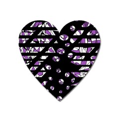 Violet Freedom Heart Magnet by Valentinaart