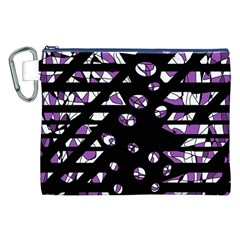 Violet Freedom Canvas Cosmetic Bag (xxl) by Valentinaart