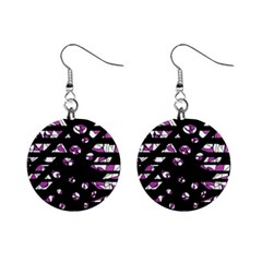 Magenta Freedom Mini Button Earrings by Valentinaart