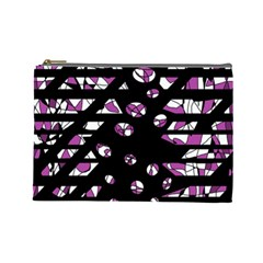 Magenta Freedom Cosmetic Bag (large)  by Valentinaart