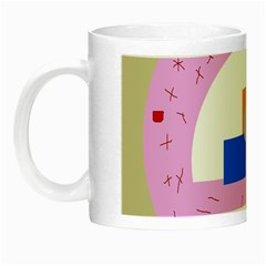 Decorative Abstract Circle Night Luminous Mugs by Valentinaart