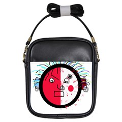 Angry Transparent Face Girls Sling Bags by Valentinaart