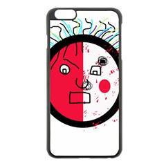 Angry Transparent Face Apple Iphone 6 Plus/6s Plus Black Enamel Case by Valentinaart