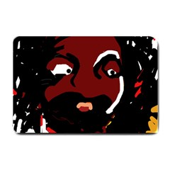 Abstract face  Small Doormat  by Valentinaart