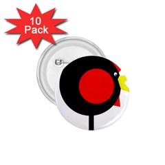 Fat chicken 1.75  Buttons (10 pack) by Valentinaart