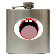 Funny Face Hip Flask (6 Oz) by Valentinaart