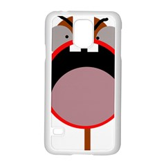 Funny Face Samsung Galaxy S5 Case (white) by Valentinaart