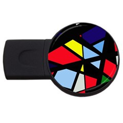 Colorful Geomeric Desing Usb Flash Drive Round (4 Gb)  by Valentinaart