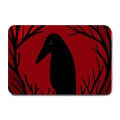 Halloween raven - red Plate Mats by Valentinaart