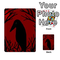 Halloween Raven   Red Multi Purpose Cards (rectangle)  by Valentinaart