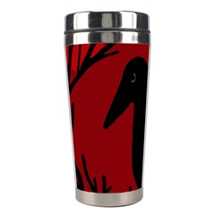 Halloween Raven   Red Stainless Steel Travel Tumblers by Valentinaart