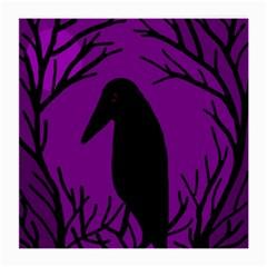 Halloween Raven   Purple Medium Glasses Cloth by Valentinaart