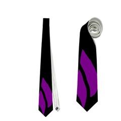 Halloween Raven   Purple Neckties (two Side)  by Valentinaart