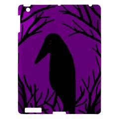 Halloween Raven   Purple Apple Ipad 3/4 Hardshell Case by Valentinaart