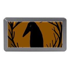 Halloween Raven   Brown Memory Card Reader (mini) by Valentinaart