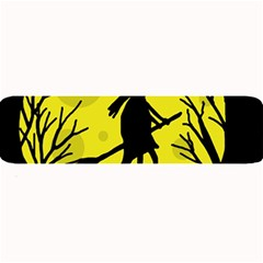 Halloween Witch   Yellow Moon Large Bar Mats by Valentinaart