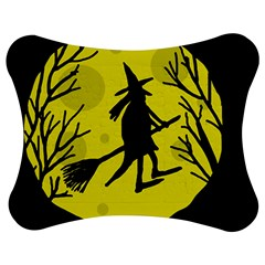Halloween Witch   Yellow Moon Jigsaw Puzzle Photo Stand (bow) by Valentinaart