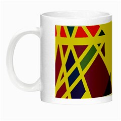 Hot Abstraction Night Luminous Mugs by Valentinaart