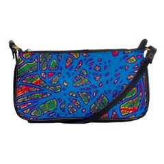 Colorful Neon Chaos Shoulder Clutch Bags by Valentinaart