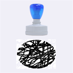 Abstract high art Rubber Oval Stamps