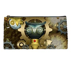 Steampunk, Awesome Owls With Clocks And Gears Pencil Cases by FantasyWorld7