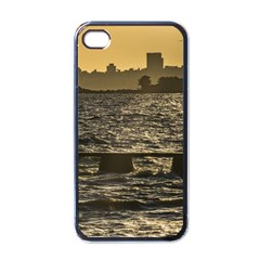 River Plater River Scene At Montevideo Apple Iphone 4 Case (black) by dflcprints