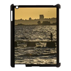 River Plater River Scene At Montevideo Apple Ipad 3/4 Case (black) by dflcprints