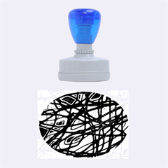 Blue Rubber Oval Stamps by Valentinaart