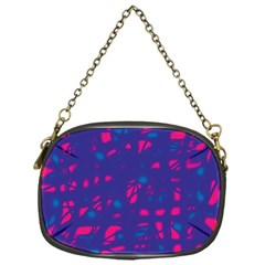 Blue and pink neon Chain Purses (One Side)  by Valentinaart