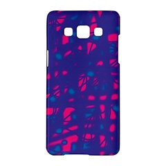 Blue and pink neon Samsung Galaxy A5 Hardshell Case  by Valentinaart