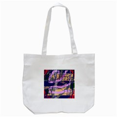 Abstract High Art By Moma Tote Bag (white) by Valentinaart