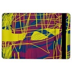 Yellow High Art Abstraction Ipad Air 2 Flip by Valentinaart
