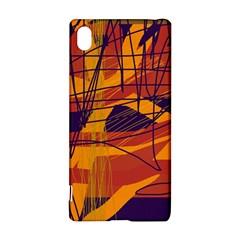 Orange high art Sony Xperia Z3+ by Valentinaart