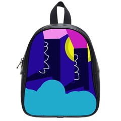Walking On The Clouds  School Bags (small)  by Valentinaart