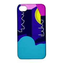 Walking On The Clouds  Apple Iphone 4/4s Hardshell Case With Stand by Valentinaart