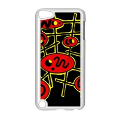 Red and yellow hot design Apple iPod Touch 5 Case (White) by Valentinaart