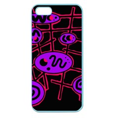 Purple And Red Abstraction Apple Seamless Iphone 5 Case (color) by Valentinaart