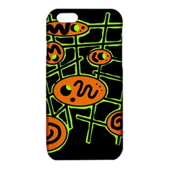 Orange and green abstraction iPhone 6/6S TPU Case by Valentinaart