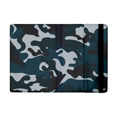 Blue Camo Pattern iPad Mini 2 Flip Cases by artpics