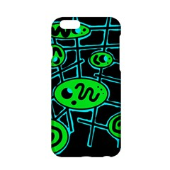 Green And Blue Abstraction Apple Iphone 6/6s Hardshell Case by Valentinaart