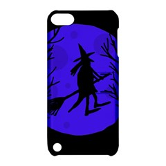 Halloween Witch   Blue Moon Apple Ipod Touch 5 Hardshell Case With Stand by Valentinaart