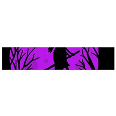Halloween Witch   Purple Moon Flano Scarf (small) by Valentinaart