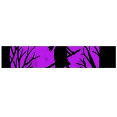 Halloween Witch   Purple Moon Flano Scarf (large) by Valentinaart