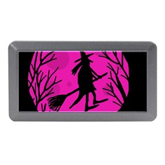 Halloween Witch   Pink Moon Memory Card Reader (mini) by Valentinaart