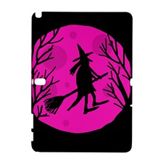 Halloween Witch   Pink Moon Samsung Galaxy Note 10 1 (p600) Hardshell Case by Valentinaart