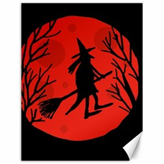 Halloween Witch   Red Moon Canvas 12  X 16   by Valentinaart